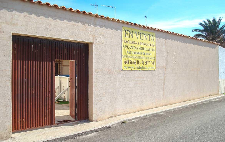 compre chalet en calle alsaciana 8, Ajofrin Toledo - Salida trasera a calle Monteria